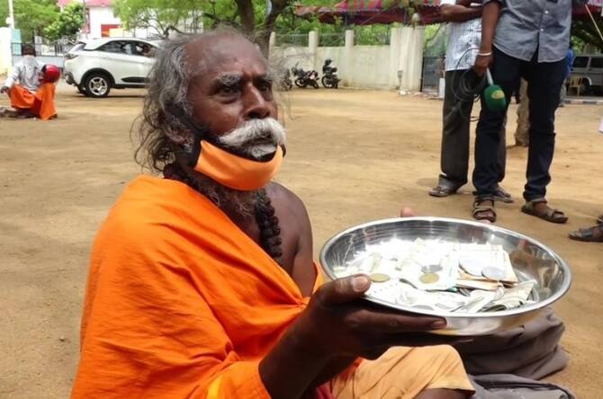 Madurai old man donates Rs 10 thousand as corona relief for the third time