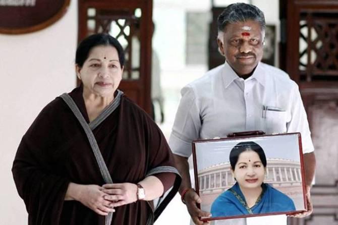 Jayalalithaa with OPS