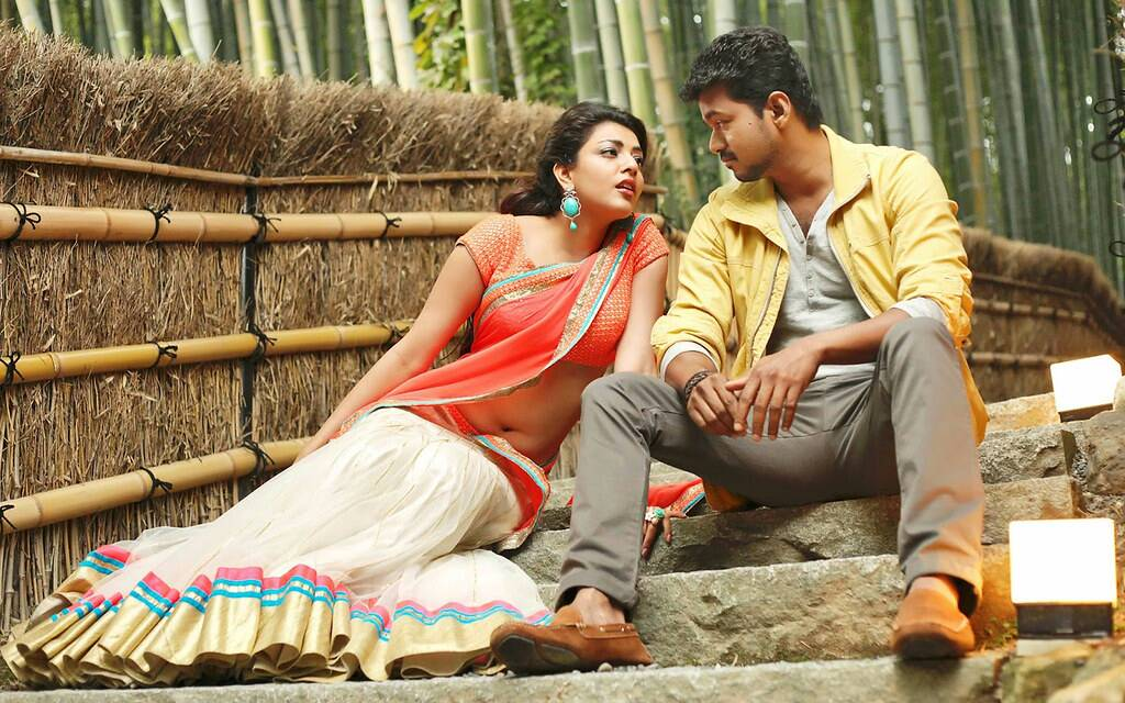 Thalapathy Vijay with Kajal Agarwal