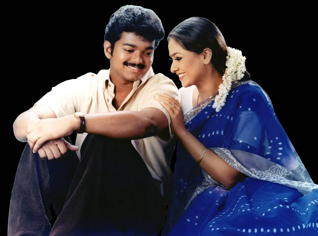 Thalapathy Vijay with Simran