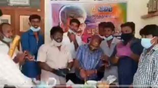 Vijay Birthday Celebration, Uthangarai Town Panchayat Executive officer Raja Suspension