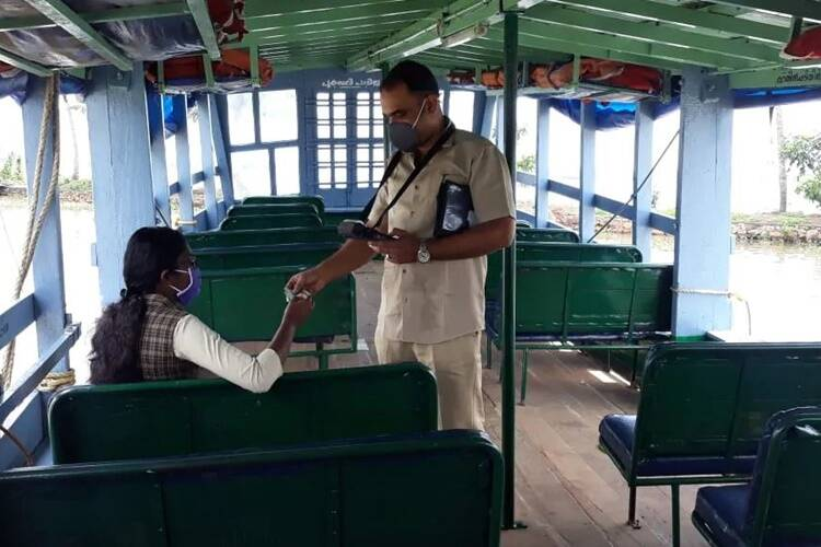 Kerala water transport corporation operated a boat for a single student