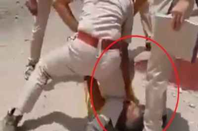 America, george floyd, rajasthan , jodhpur police, mask, police action, cop kneels on neck of man, george floyd, rajasthan cop kneels on neck of man, jodhpur george floyd, rajasthan george floyd video, viral
