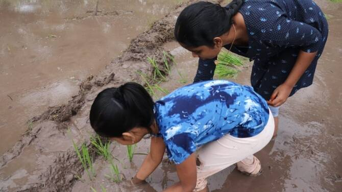 Coimbatore man teaches farming to his two daughters amid covid19 lockdown