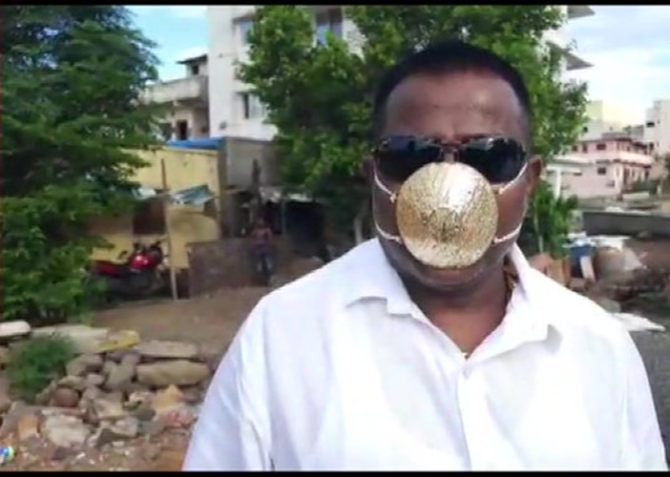 viral pics of man wearing gold mask worth rs 2.89 lakh to protect himself against coronavirus