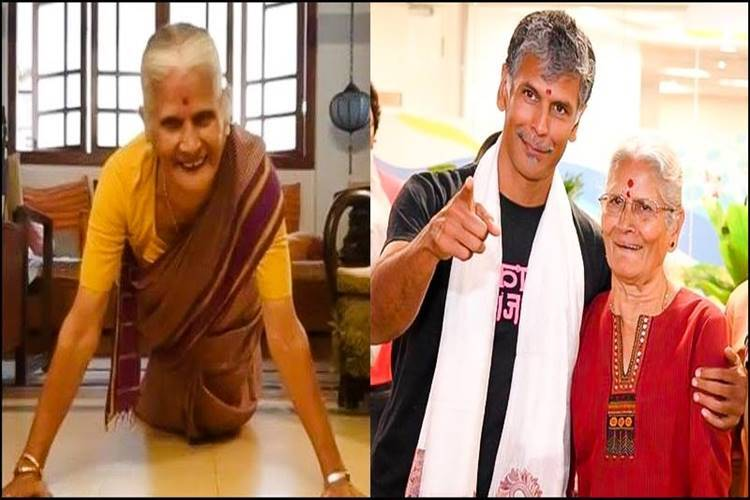 Milind Soman's 81 year Mother's push up goes viral