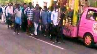 gangster attack 2 rowdies murder, rowdy's funeral at Vazhudavoor in Villupuram, gangsters funeral more than 500 people participated, விழுப்புரம், வழுதாவூர் ரவுடி இறுதி ஊர்வலம், 500 பேர்களுக்கு மேல் பங்கேற்பு, violation of 144 curfew, coronavirus, covid-19, tamil nadu, latest tamil news