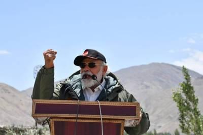 PM Modi in Leh Ladak Photo Gallery