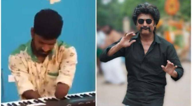 Physically Challenged Person Plays Rajinikanth's Marana Mass song
