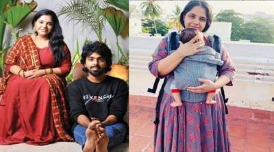 Saindhavi Shares picture with her daughter