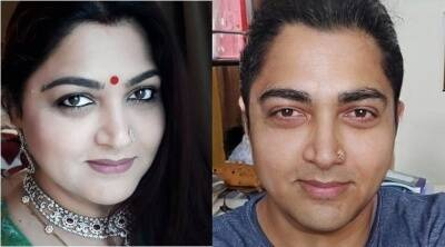 Kushboo shares her faceapp male version photo