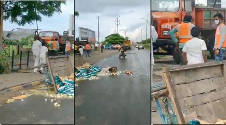 Egg seller's cart allegedly overturned by civic officials in Indore