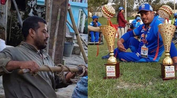 Former Captain Of Wheelchair Cricket Team Works As A Labourer Amid Pandemic