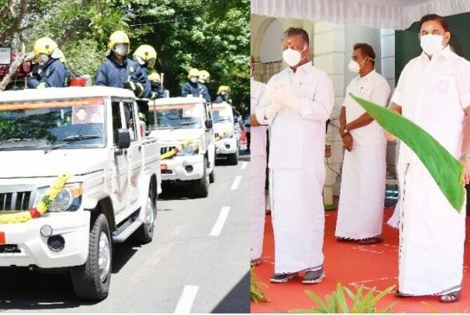 CM edappadi palanisamy introduced 50 high speed vehicles to contain covid19 spread