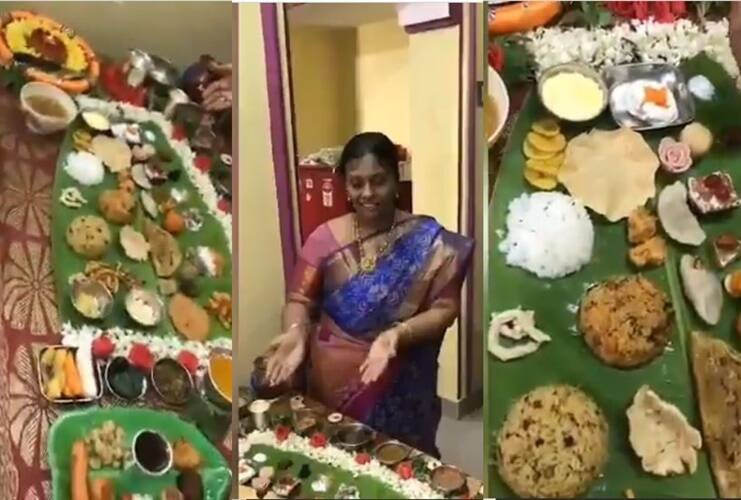 viral video of mother in law surprises her son in law with grand feast of 67 dishes