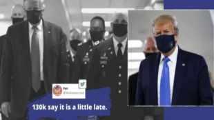 Coronavirus, COVID-19, US President Donald Trump, Facemask, Trump wears mask for first time, US Coronavirus updates, Trending news, Indian Express news