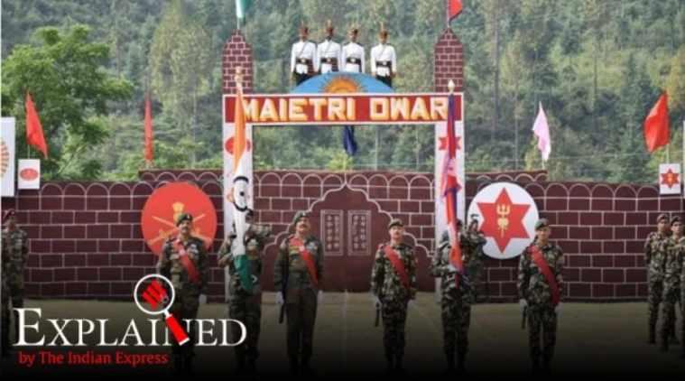Indian army, British India, India Nepal military ties, India Nepal armies, India Nepal military relations, India Nepal dispute, KP Oli India, India Nepal military, Express Explained