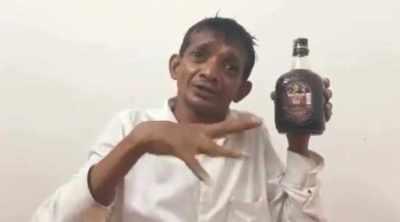corono virus, medicine, Ravichandra Gatti, Ravichandra Gatti rum eggs viral video, Ravichandra Gatti old monk, congress mla, congress, trending, indian express, indian express news