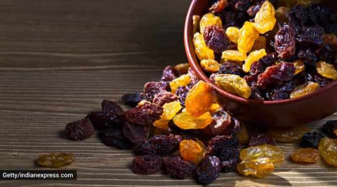 Weight loss, healthy life, raisins for weight loss, keeping weight in check, healthy snacking, raisins and weight loss, indian express, indian express news