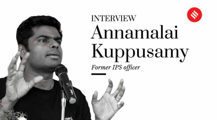 Annamalai Kuppusamy, Tamil nadu, 2021 Assembly election, organic farming, Rajinikanth, Annamalai IPS, Sathankulam issue, Annamalai Kuppusamy interview, Annamalai Kuppusamy Rajinikanth, Rajnikanth party Annamalai Kuppusamy, Singham Annamalai Kuppusamy, Annamalai Kuppusamy, annamalai kuppusamy ips, indian express annamalai kuppusamy ips