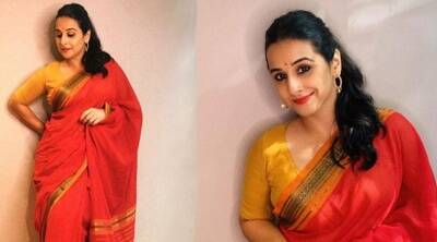 Shakuntala Devi e-promotions: Vidya Balan keeps it simple in Coimbatore cotton sari