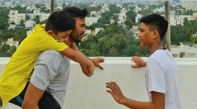 Dhanush shares a cutest picture of his two sons