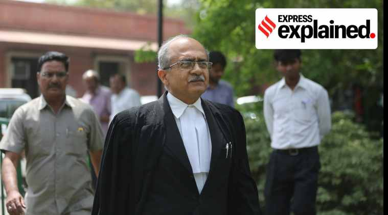 prashant bhushan, prashant bhushan contempt of court, SC on prashant bhushan, பிரசாந்த் பூஷன், உச்ச நீதிமன்றம், நீதிமன்ற அவமதிப்பு, prashant bhushan tweet contempt, prashant bhushan comment on supreme court, prashant bhushan comment on supreme court news, prashant bhushan supreme court tweet, prashant bhushan supreme court tweet news, prashant bhushan tweet cji, prashant bhushan tweet cji news