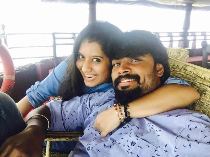 Tamil TV Anchors with their husbandTamil TV Anchors with their husband