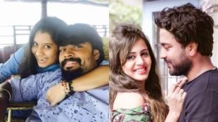 Tamil Anchors with their husbands, VJ Anjana rangan, Priyanka deshpande
