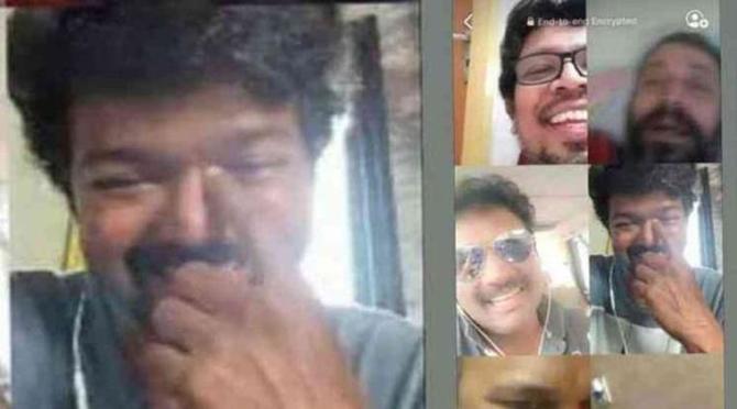 Thalapathy Vijay Friendship Day video call