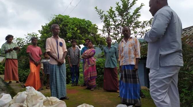 Coimbatore tribal villages and corona relief materials