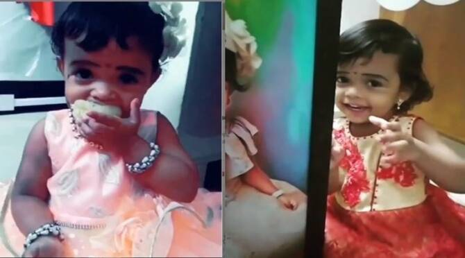 Viral video of dkc baby doing tiktok videos of tamil comedy clips
