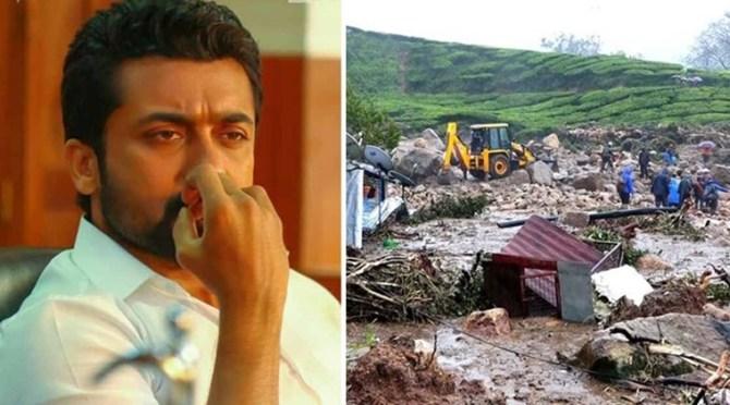 Idukki landslide Actor suriya condolences to those who lost their kin
