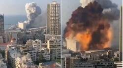 The major blast occurred near the port area in Beirut
