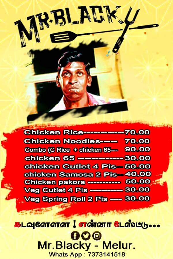 Madurai melur Mr Blacky food truck restaurant