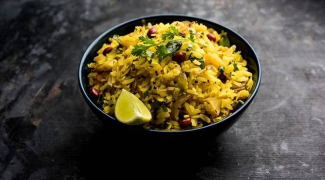 easy breakfast recipe, healthy breakfast, Aval Upma