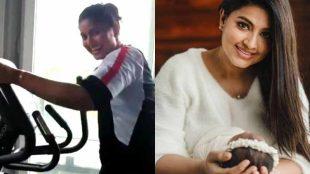 actress sneha, sneha work out, sneha heavy work out, sneha work out viral video, sneha daughter, சினேகா, நடிகை சினேகா, வொர்க் அவுட், வைரல் வீடியோ, சினேகா மகள், சினேகா மகன், sneha son, sneha prasanna, tamil cinema news, latest tamil cinema news, sneha work out in gym