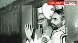PM Modi, Ayodhya, Ram temple, narendra modi, ayodhya temple, ayodhya temple construction, august 5 ayodhya temple, l k advani ram rath yatra, advani ayodhya temple, gujarat riots, modi gujarat cm, indian express, express explained