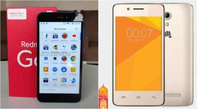 Smartphones, micromax, coolpad, Itel, budget smartphones, smartphones under 5000, ikall k110 redmi go micromax canvas spark micromax bharat 2 plus coolpad mega 5m itel a235
