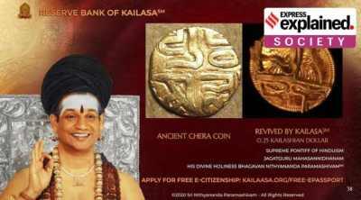 Nithyananda, Kailasa, reserve bank, currency, Godman, nithyananda, swami nithyananda, nithyananda country, kailasa, reserve bank of kailasa, indian express