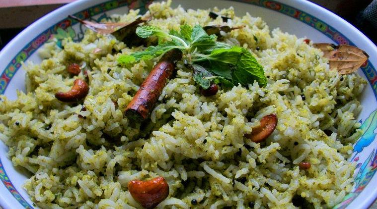 rice recipes in tamil pudina rice recipe