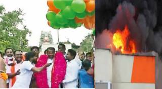 chennai gas balloon fire