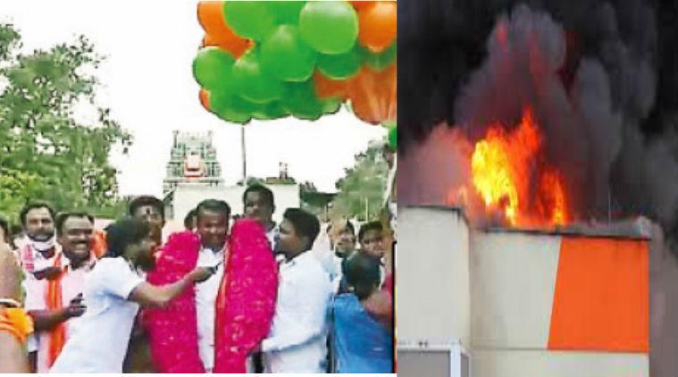 chennai gas balloon fire