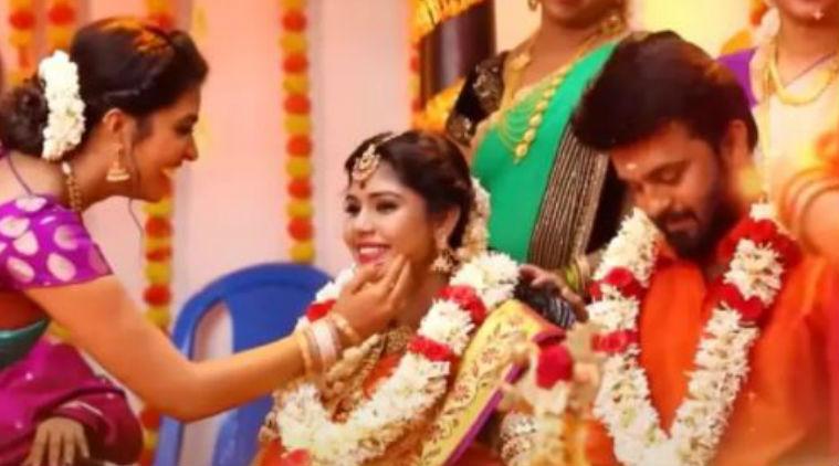 pandian stores serial meena baby vijay tv