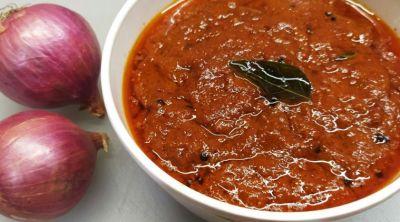 onion chutney recipe onion chutney recipe in tamil