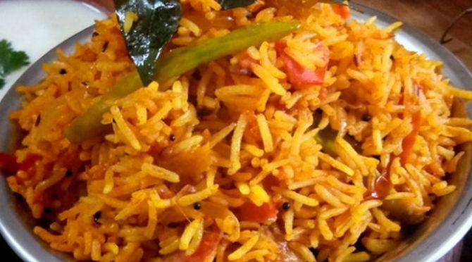 tomato rice recipe tomato rice recipe in tamil