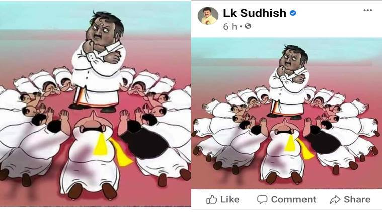 DMDK LK Sudhish Contoversial Cartoon