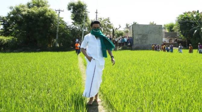 DMK Protest Against Farmbill
