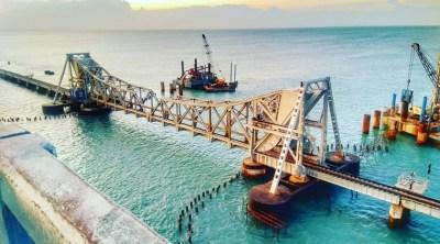 Railway minister Piyush goyal released animation video of pamban new bridge