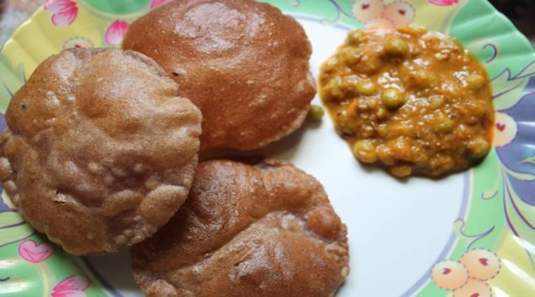 Healthy Ragi Poori, Masala Ragi poori